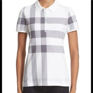 Tops - Burberry Women exploded check print polo shirt